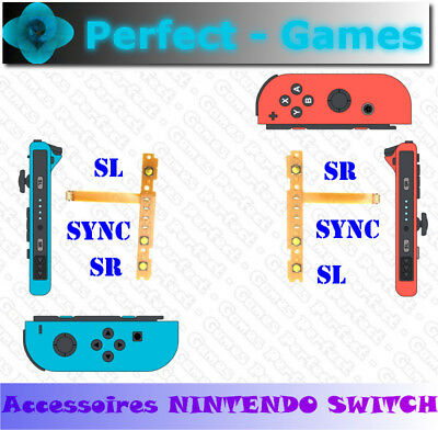Boutons touches SR SL SYNC button manette joycon controller nintendo switch NS