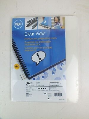 GBC ClearView® Presentation Covers, Premium Frosted Binding Cover, 25 pieces