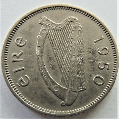 1950 IRELAND, 6 Pence Grading Good VERY FINE.