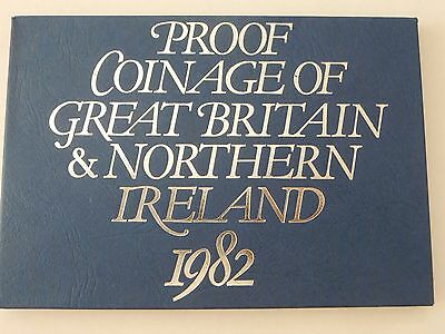 1982 The Coinage of Great Britain & Northern Ireland 7 Coin Proof Set