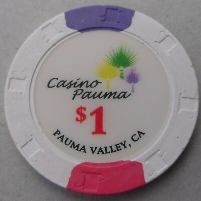 CASINO PAUMA in Pauma Valley, California $1 Poker CHIP  ~ I COMBINE SHIPPING