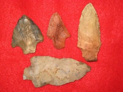 Authentic Native American artifact arrowhead 4) Missouri points I5