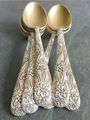 Antique Tiffany & Co Sterling Coffee Spoon ANTIQUE CUSTOM ENGRAVED Pattern Gold