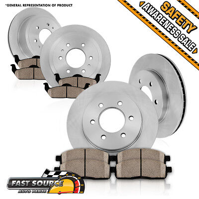 2X Front /& 2X Rear Discs Brake Rotors and Pads For 1995-1997 Pontiac Firebird