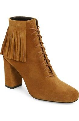 735d687adc4 NIB Saint Laurent Babies Fringe Suede Lace-Up Booties Size 39.5 9.5  995.00