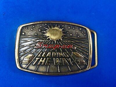 Snap on Leading the way Solid Brass belt buckle