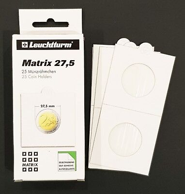 Lighthouse 2X2 Self-adhesive Coin Holder 27.5mm Fit AU $1 & 1/2 Penny Pack of 25