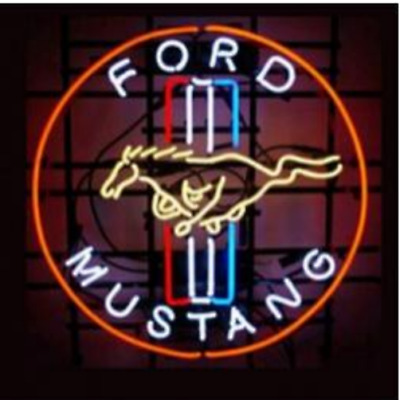 "FORD MUSTANG, NEON SIGN HANDICRAFT NEON LIGHT  DISPLAY SIGN 17""x14"""