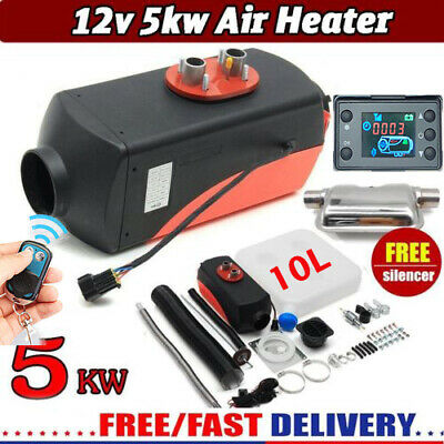 le 5KW 12V Diesel Air Heater Tank LCD Thermostat Quiet For Truck Boat Trailer ok