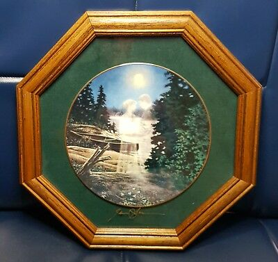 'Moonlight Embrace' by James Lumbers on Plate and Signed Professionally framed
