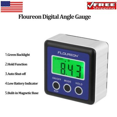 Digital LCD Protractor Magnetic Angle Finder Meter Bevel Level Box Inclinometer