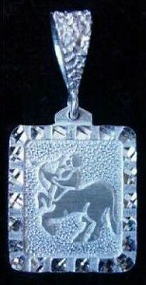 LOOK New Ancient Carving Sagittarius Pendant Sterling Silver 925 Zodiac Charm Je