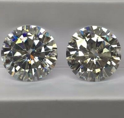 1 CT to 5 CT Loose Real Moissanite VVS, Grey Color Round Brilliant Cut 4 Ring