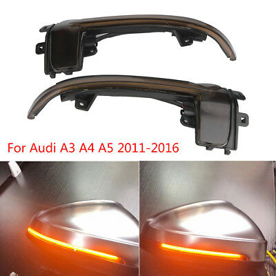 Dynamic Flowing Side Mirror Indicator Repeater Blinker For Audi A3 A4 A5 8P B8.5