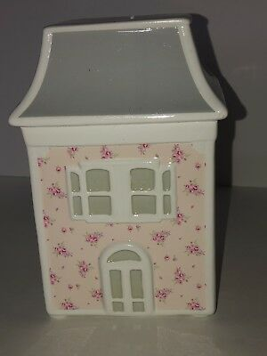 New Simply Shabby Chic Dollhouse Piggy Bank Pink Floral