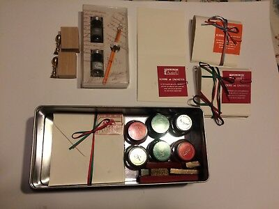 Oriental Caligraphy Set/ paper/ wax sticks and stamps/ calligraphy brush and ink
