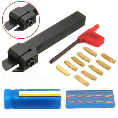 MGEHR1212-2 Grooving Lathe Turning Tool Holder + 10 x MGMN200-G Inserts + wrench