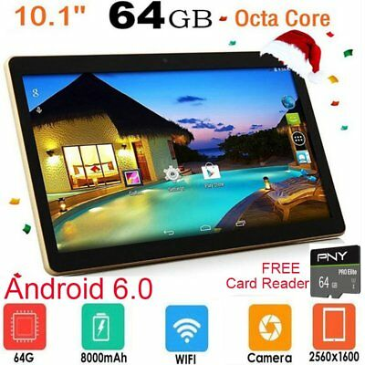 10.1'' PC Tableta Quad Core Android6.0 64GB Tablet PC WIFI OTG  TF card 64G 2019
