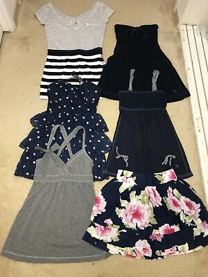 Lot Of 13 Abercrombie & Fitch Stripe Ruffle Lace Tank Top Dress Skirt Size Small