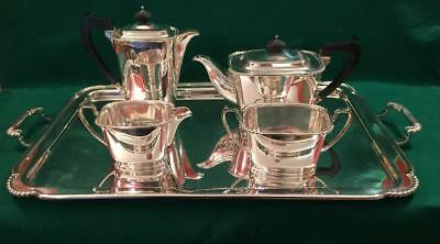 Fabulous Art Deco Mappin & Webb tea set on tray circa 1930