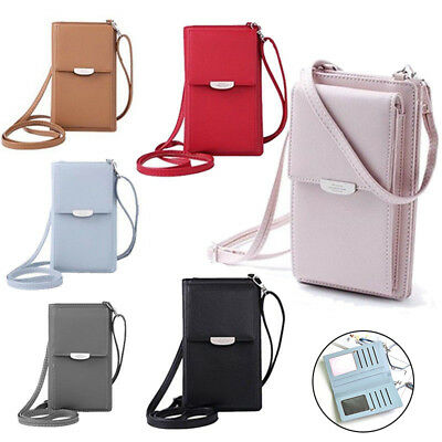 Women Wallet Purse Bag Leather Coin Cell Phone Mini Cross-body Shoulder Bag AU