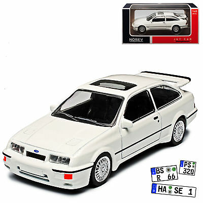 Ford Sierra RS Cosworth Coupe Weiss 1982-1993 1/43 Norev Modell Auto mit oder ..
