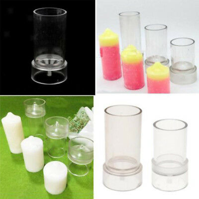 Transparent Plastic Candle Making Mold Round Candle Moulds DIY Candle Soap Clay