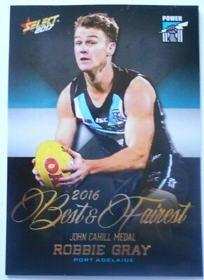 2017 AFL Select Robbie Gray Best & Fairest Card Port Adelaide