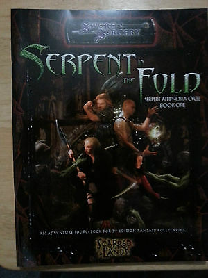 D & D serpent in the fold book 1, sword & sorcery, d20, mint, scarred lands