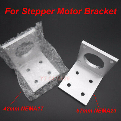 For 42mm NEMA17 / 57mm NEMA23 Stepper Motor of CNC Aluminum Mounting Bracket New