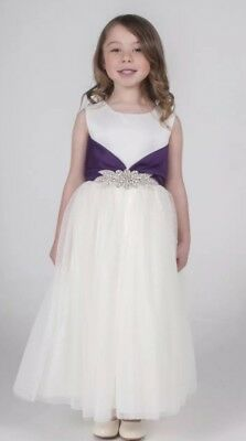 Baby Girls Party / Christening / Flower Girl Dress Iv/Purple Age 18/24 Months