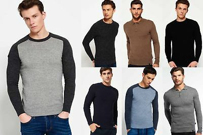New Mens Superdry Knitwear Selection - Various Styles & Colours 181218