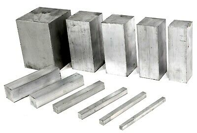 Aluminium Solid SQUARE Bar - 14 Sizes & 10 Lengths Available