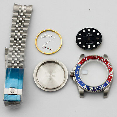 watch repair parts GMT MASTER  watch case kit FIT 2836 movement 40mm