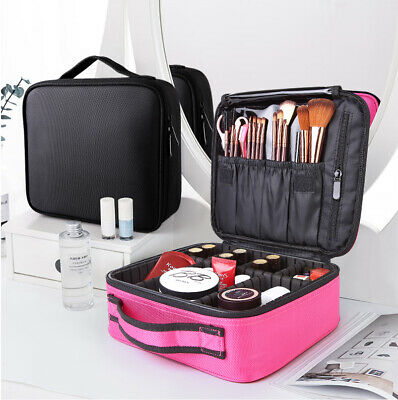 Cosmetic Box Trolley Vanity Makeup Case Hairdressing Travel Beauty Bag 2 Colors