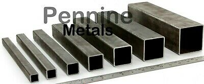 Mild Steel or Galvanised Steel SQUARE Box Section Bandsaw Cut from UK Supplier