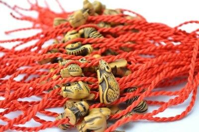 10pcs Red Rope Zodiac Bracelet Lucky Chinese Wholesale Faceted Diy