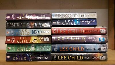 LEE CHILD : job lot collection of 12 adult fiction books
