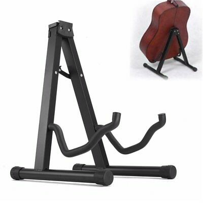 Foldable Folding Portable Acoustic Electric Bass Guitar Floor Stand Rack Holder
