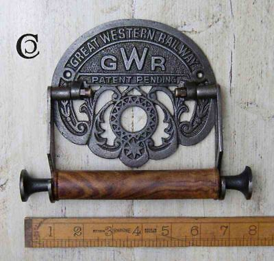 "Antique Iron GWR Toilet Roll Holder - 152mm (6"") x 203mm (8"")"