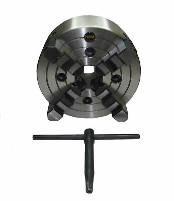 Rdgtools 160Mm 4 Jaw Independent Lathe Chuck Front Mount