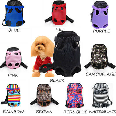 Pet Dog Backpack Carrier Puppy Pouch Cat Front Bag Back Pack With Legs Out New