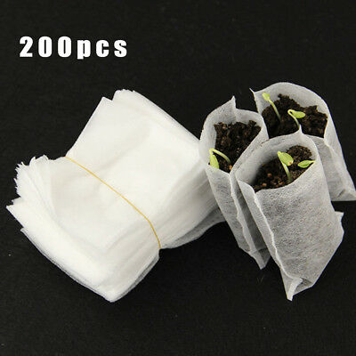 Biodegradable Seedling Bag Non-woven Fabric Nursery Bags Plant Grow Bags New