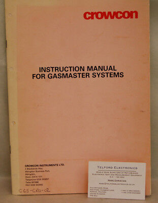 Crowcon Gasmaster Systems Instruction Manual