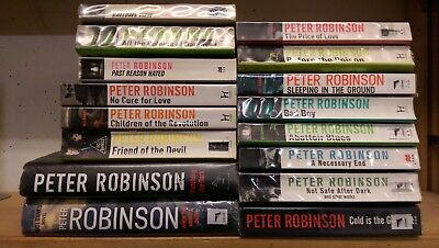 PETER ROBINSON:  Job lot collection of 16 adult fiction books