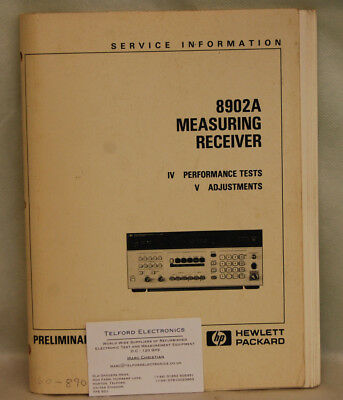 HP8902A Measuring Receiver Sections 4 & 5 Service Manual