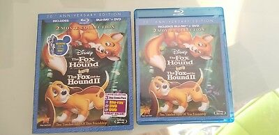 2 Movies!! The Fox and the Hound I & II 30th Anniversary Edition Blu-Ray 3-Disc