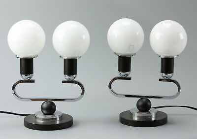 Pair of original 1925 Art Deco Table lamps (rewired, fully functional)