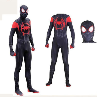 Spider-Man Costume Into the Spider-Verse Jumpsuit Miles Morales Zentai Cosplay