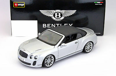 Bentley Continental Supersports Convertible année 2011 argent 1:18 Bburago